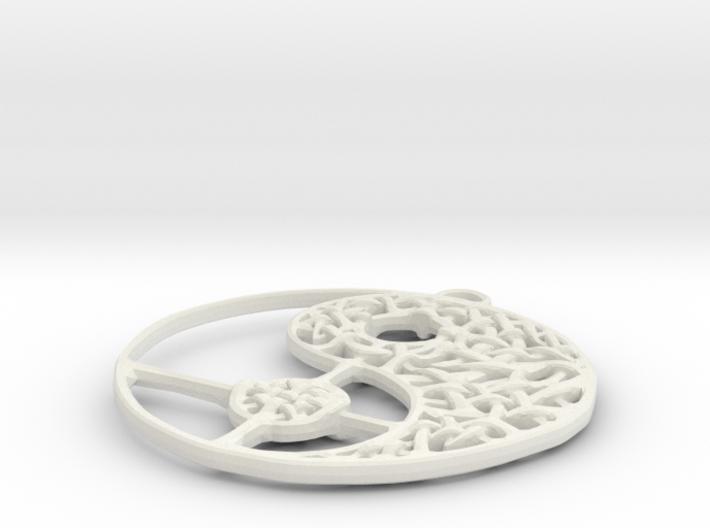 Yin Yang Necklace 3d printed