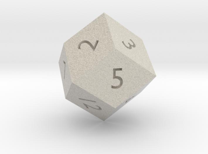 Rhombic 12-sided die 3d printed