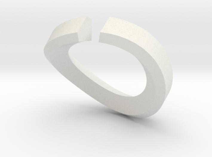 Single Diamond Bangle 3d printed