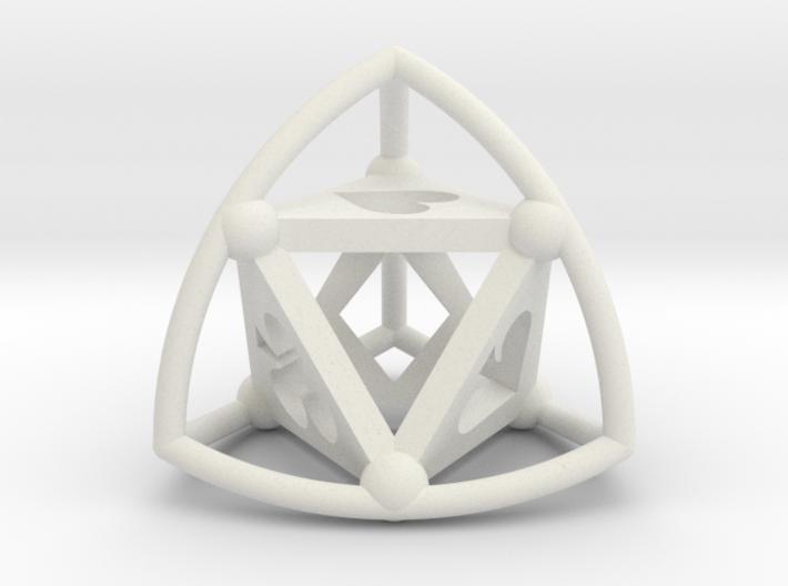 Tetrasphere (poker) 3d printed