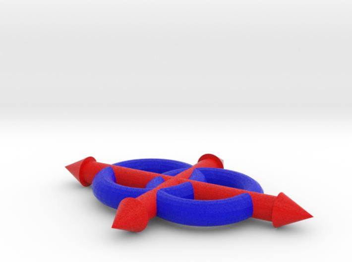 Lojban Logo, full color 3d printed