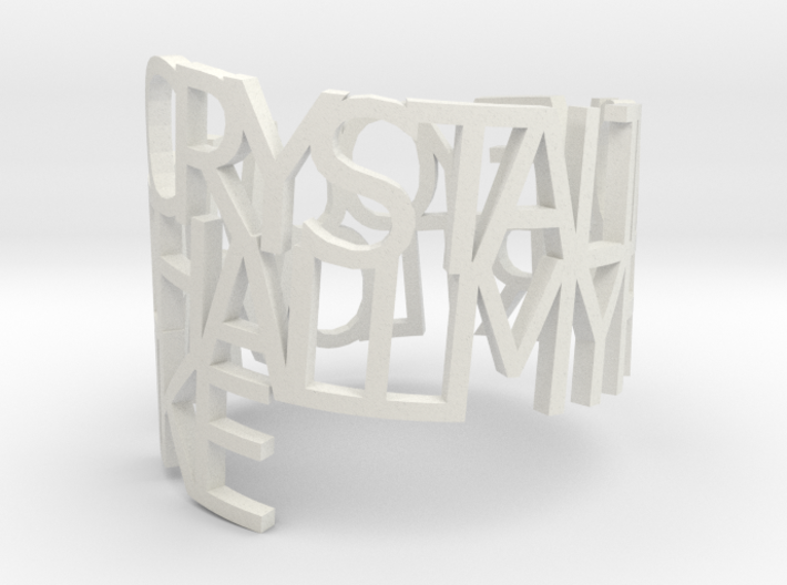 Ring Poem - Crystal 3d printed