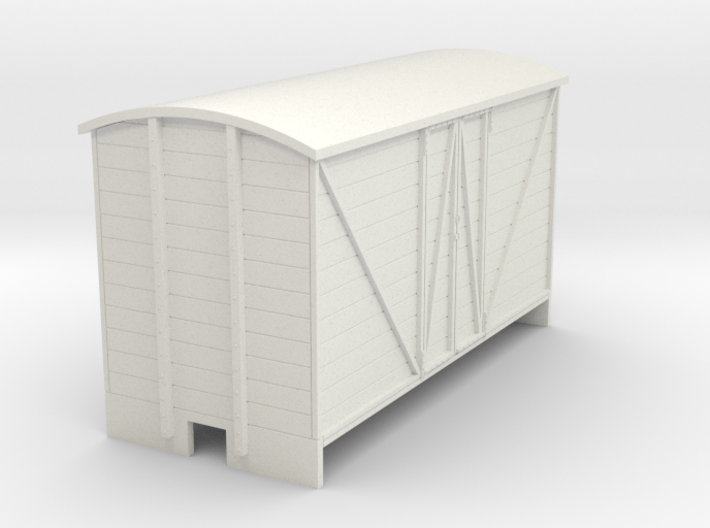 OO9 Goods van (long) Panel door 3d printed