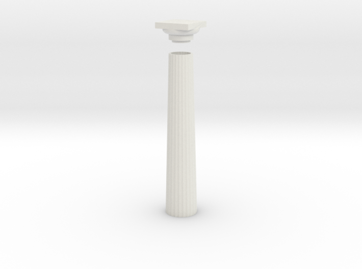 17.5cm Doric Column - hollow core - flat plinth an 3d printed