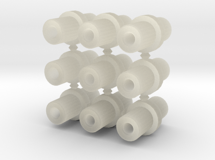 Double-ended 5mm pegs (x9) 3d printed