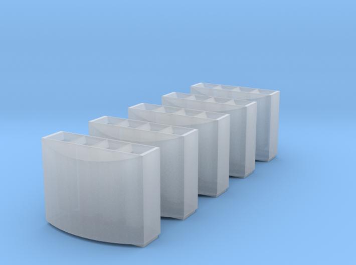 DB Mülleimer 5x 1:160 / modern trash bin 3d printed