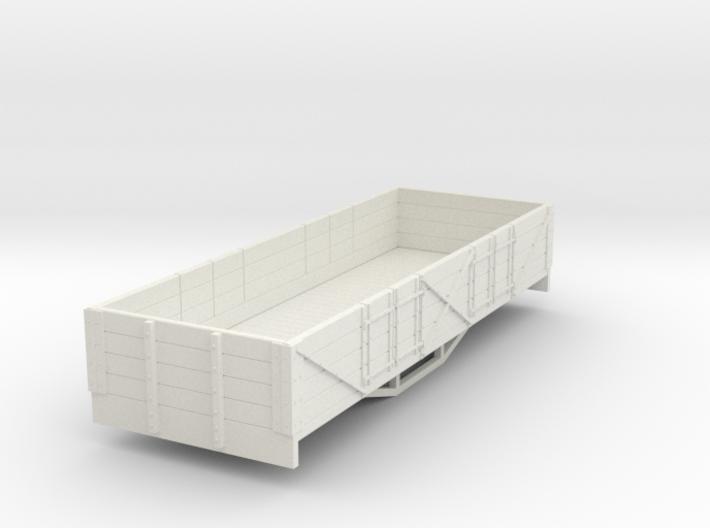 OO9 bogie 4 plank open (short) 3d printed