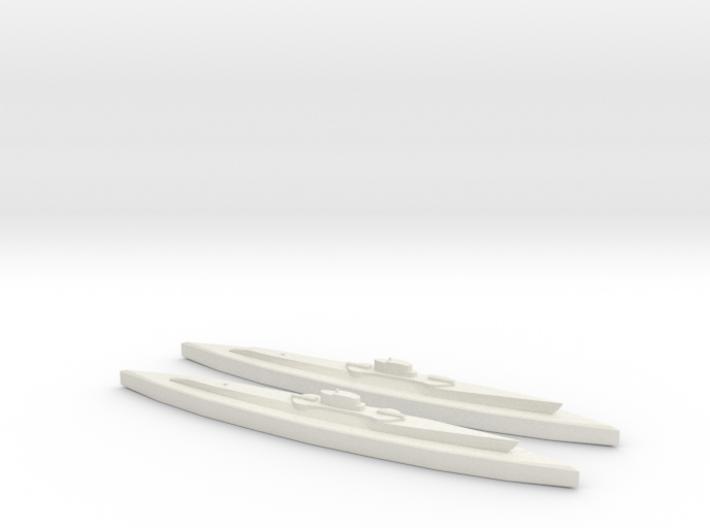 USS Nautilus & Narwhal 1:1800 3d printed