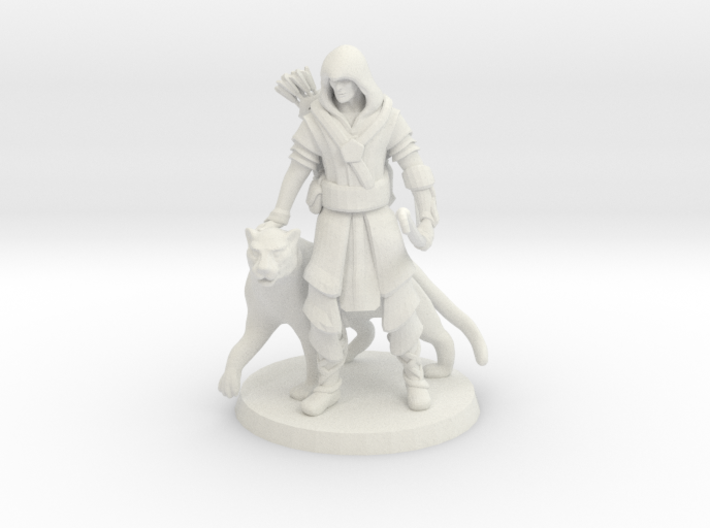Elven Archer / Beastmaster (Large) 3d printed