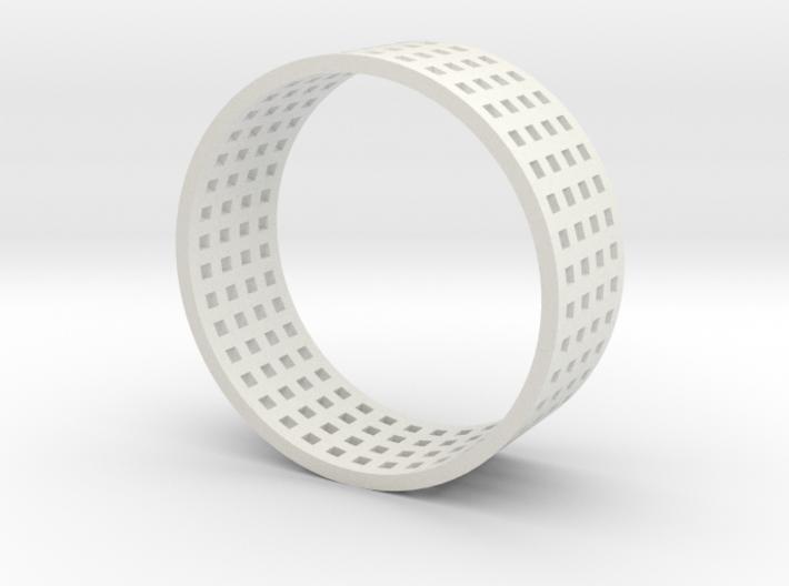 Grid ring 3d printed
