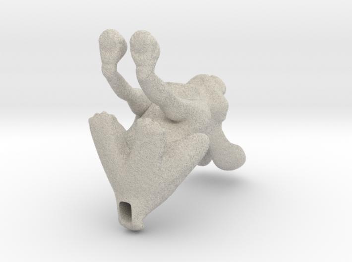 miniature stargazer hare 3d printed