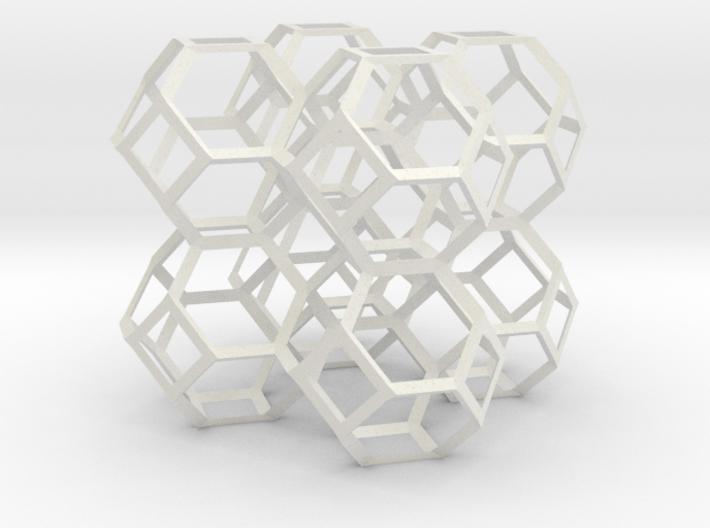 Kelvin foam skeleton 3d printed