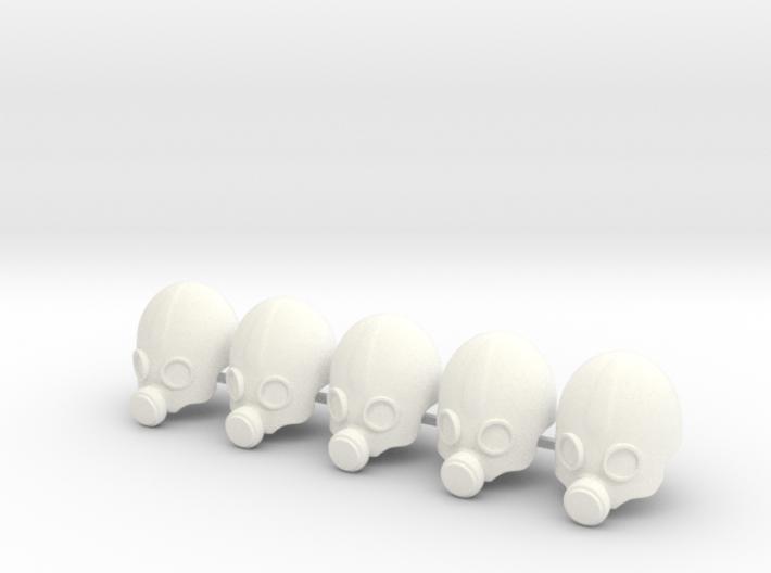 5 x PA gas mask 3d printed