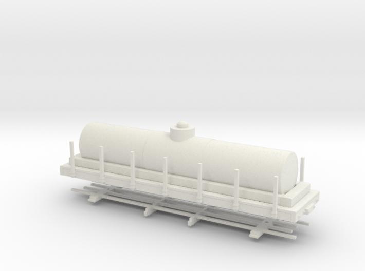 """HOn30 28ft tank car 4'8"""" diameter 3d printed"""