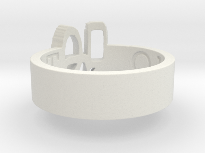 -49 Overcast Brand Ring Size 8 3d printed