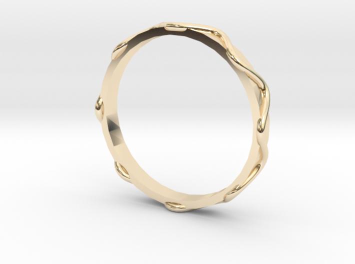Waves Ring - Sz.9 3d printed