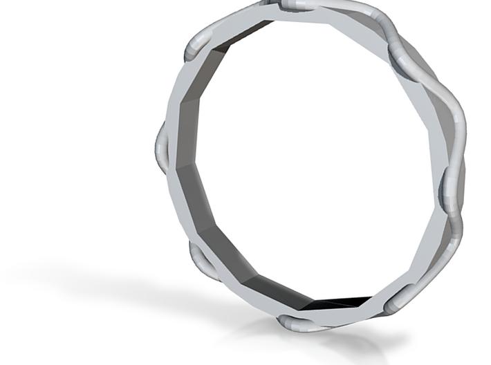 Waves Ring - Sz.7 3d printed