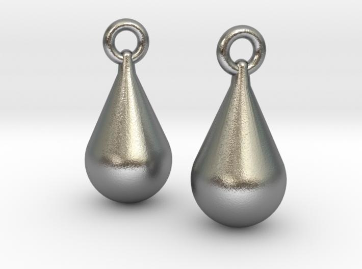 teardrop earrings 3d printed (rendered)