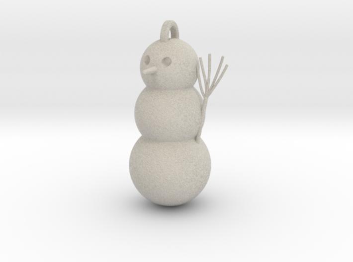 Geometric Snowman 01 3d printed