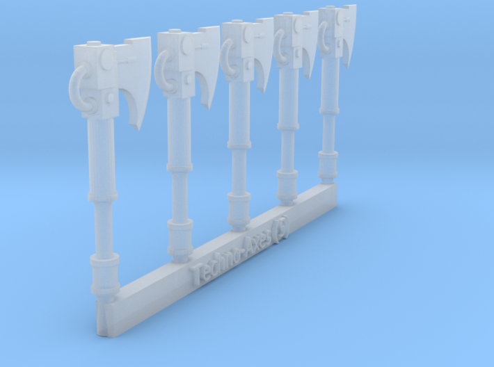 Techno-Axe Sprue (5) 3d printed