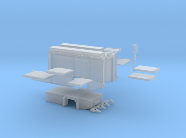 Aufbau AT3 für Scaniastandardkabinen-lang 3d printed