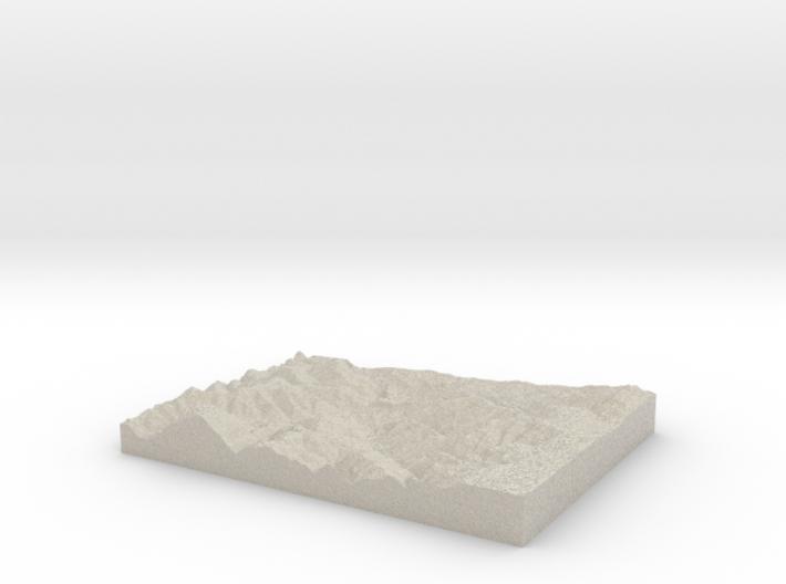 Model of Pleasant Run Post Office 3d printed