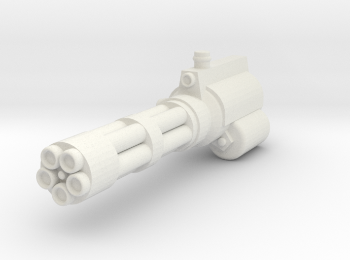 Action Figure Gatling Gun L 3d printed
