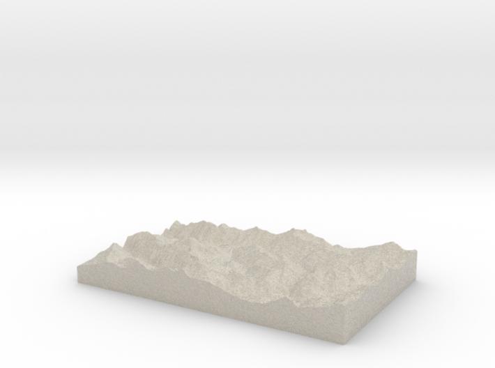 Model of Le Villard 3d printed