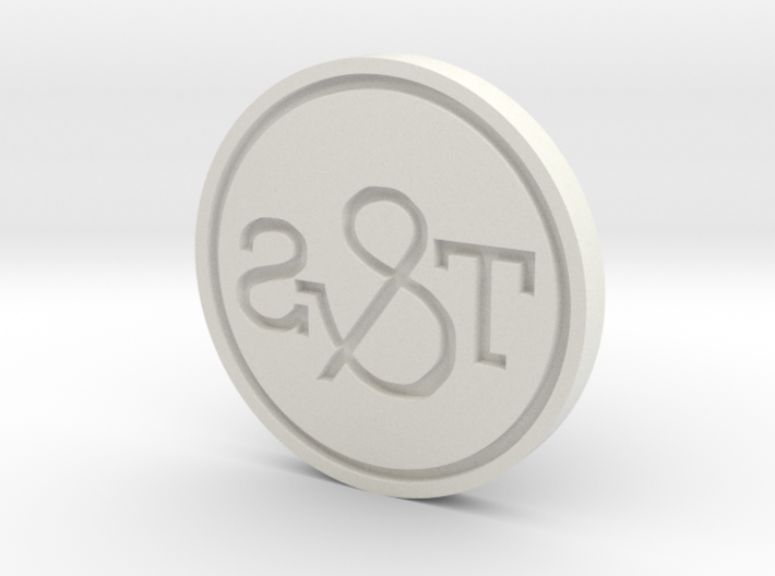 T&S Stamp emboss w ring 3d printed