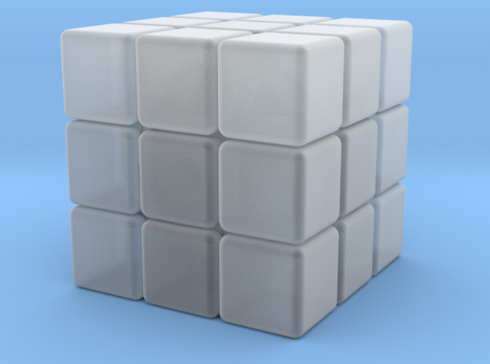 Mini 12mm 3x3x3 Cube 3d printed