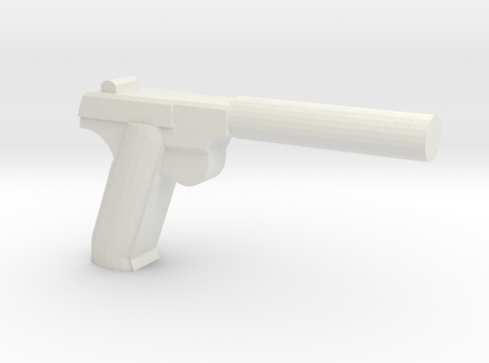 Silenced High Power HDM Pistol 3d printed