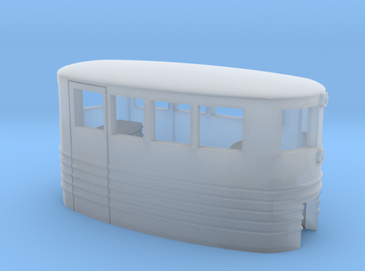 Small Passenger Trolley - Open Windows - Z Scale 3d printed