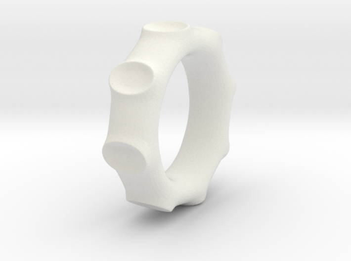Moon Crater ring 3d printed