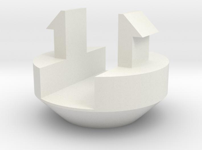 afdekdopje kunststof kozijn 3d printed