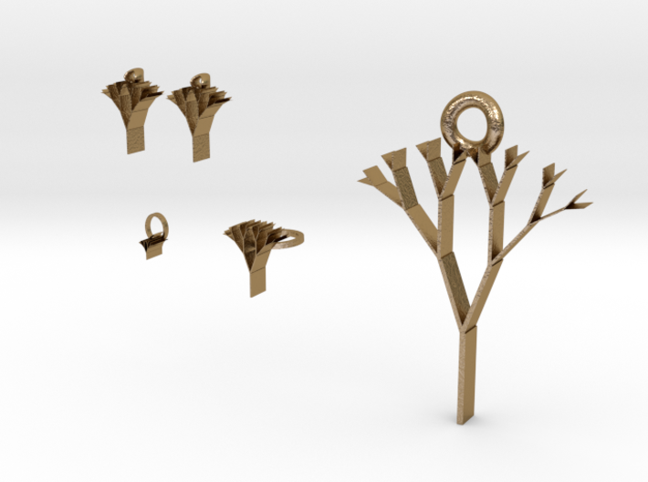 tree of life jewelry set 3d printed