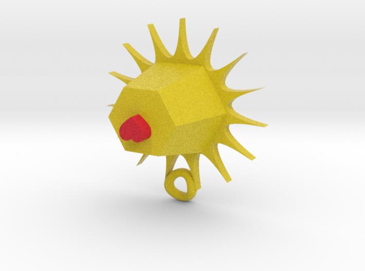 sun heart pendant 3d printed