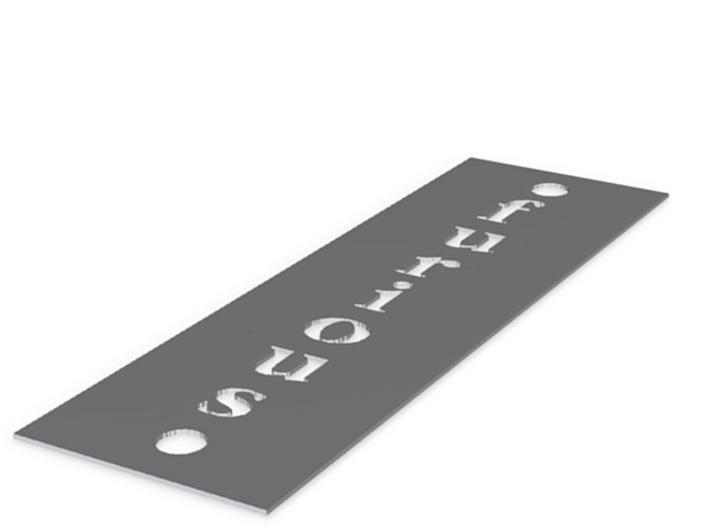 Furious Plate 3d printed