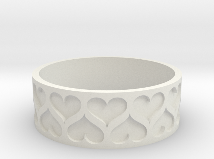 Heart bracelet (Large 80mm) 3d printed