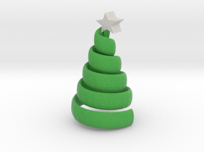 The swirl xmas tree 3d printed