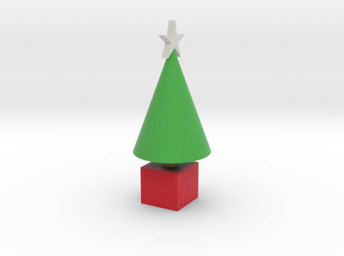 classic tree with star 3d printed