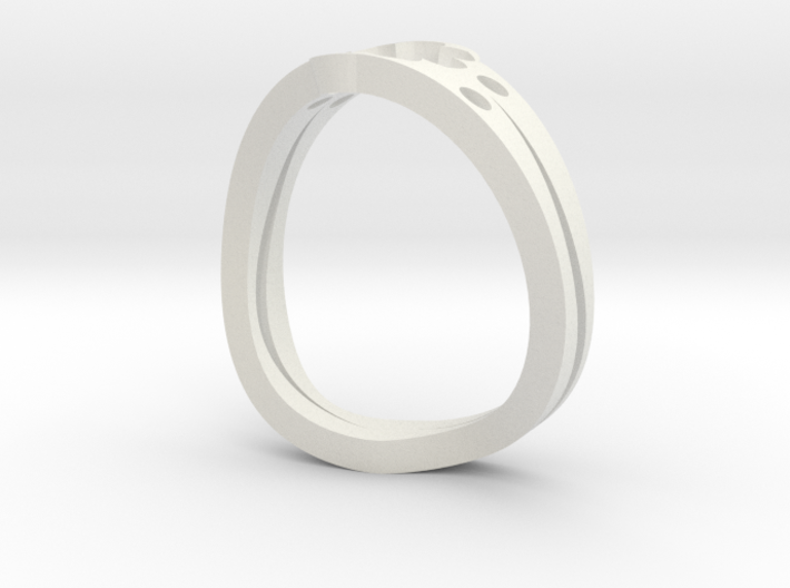 Lucky 7 Petal Flower Ring - SIZE 11 3d printed