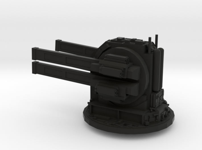 Rail gun turret - fixed 3d printed