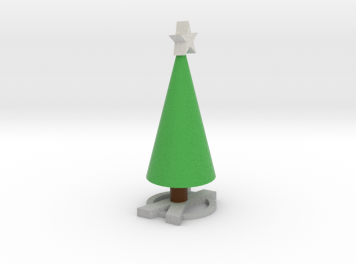 Realistic X Based Xmas Tree With Star 3d printed