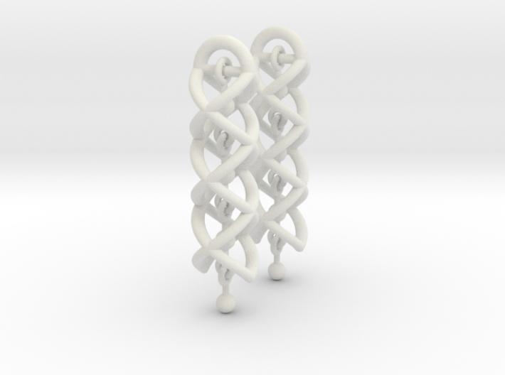 Helix Dangle Earrings V2 3d printed
