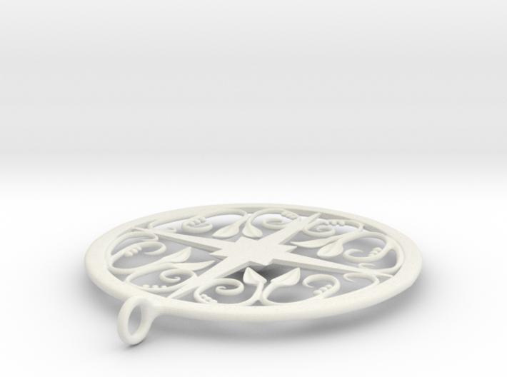 Ivy Pendant 3d printed