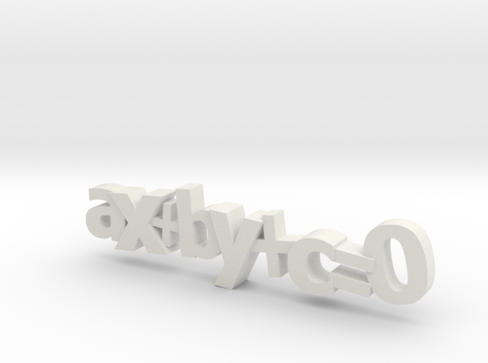 Ax+By+C=0 3d printed