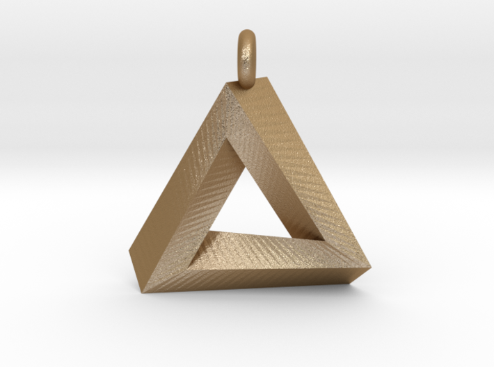 Penrose Triangle - Pendant (3.5cm | 3.5mm O-Ring) 3d printed