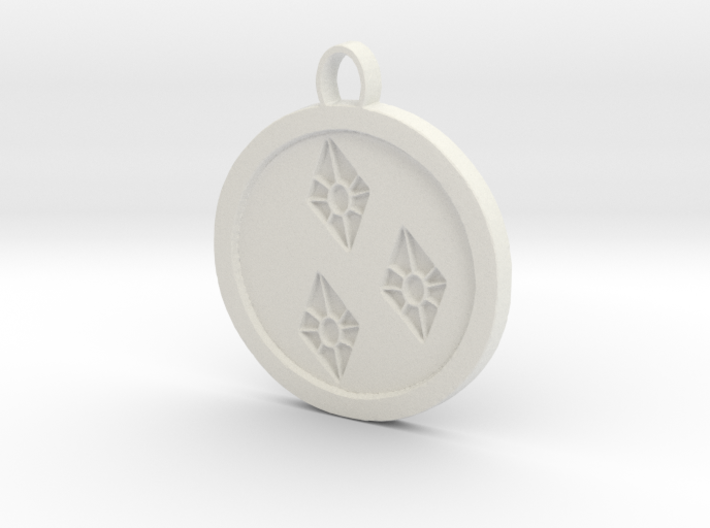 Rarity cutie mark pendant my little pony 3d printed