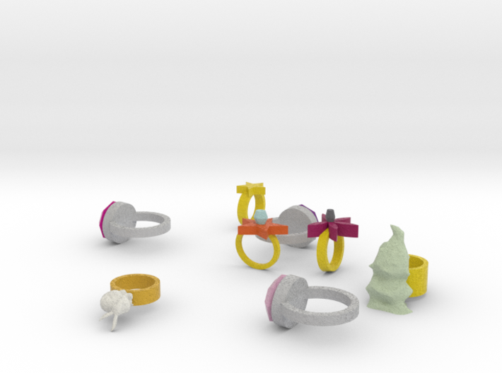 Assorted Rings 3d printed
