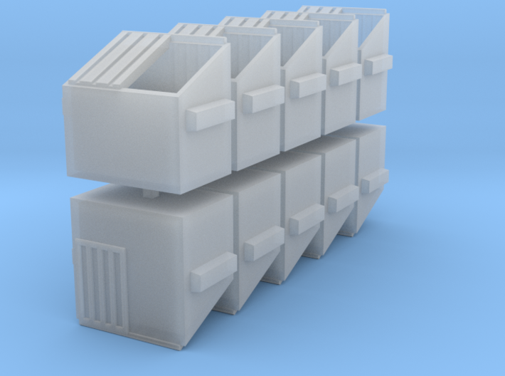 Dumpster Set - Z scale 3d printed